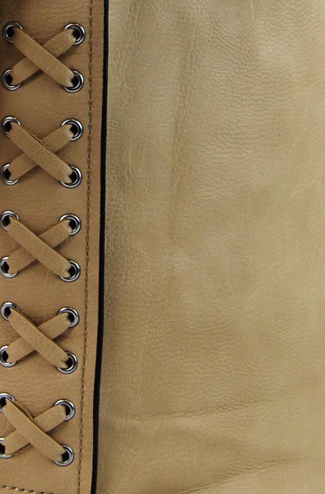 82c5309073 Velká dámská crossbody kabelka   pytel 1586-BB hnědo-meruňková (5 5