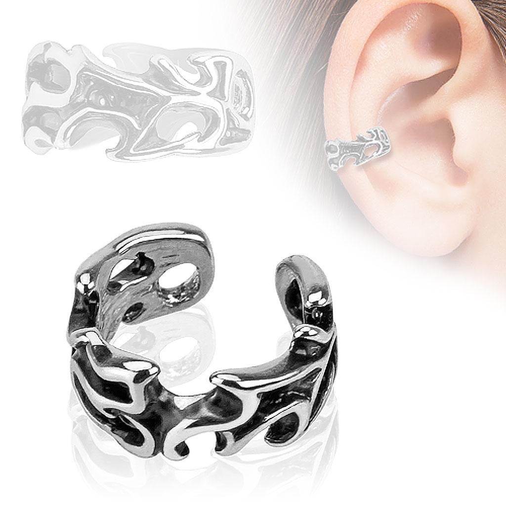 Falešný piercing do ucha - klips s ornamenty - drento.cz 3b53effcdd1