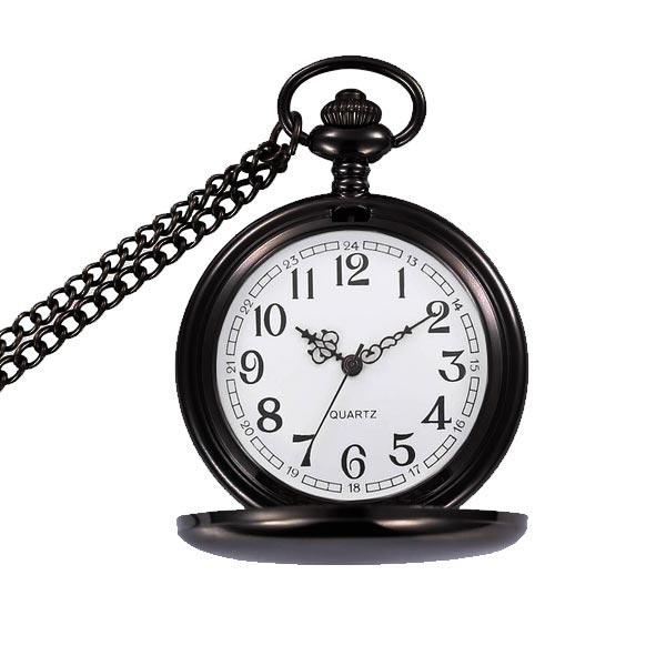 9495a061840 Kapesní hodinky otevírací - cibule černé - drento.cz