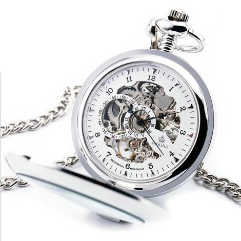 Mechanické kapesní hodinky otevírací - cibule - drento.cz 22f6b1afa8a