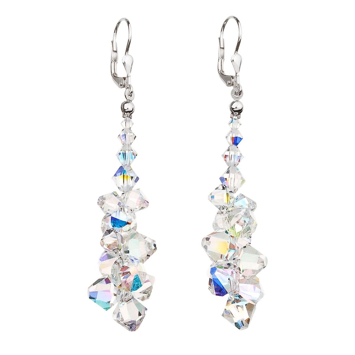 Stříbrné visací náušnice s krystaly Crystals from Swarovski ... 5b75f0aa389