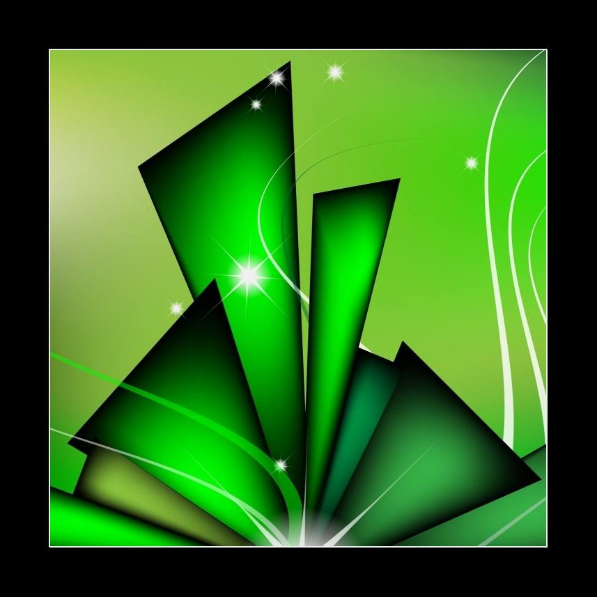 Abstract green composition