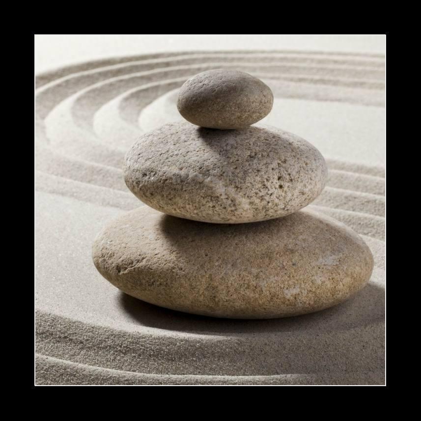 jardin zen avec sable et galets. Black Bedroom Furniture Sets. Home Design Ideas