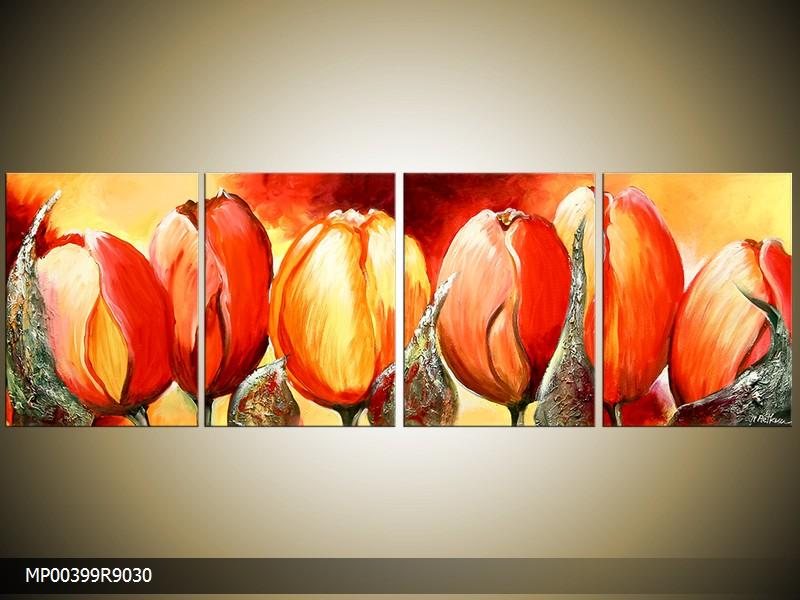 Ručně malovaný obraz tulipány - drento.cz 13f438c083