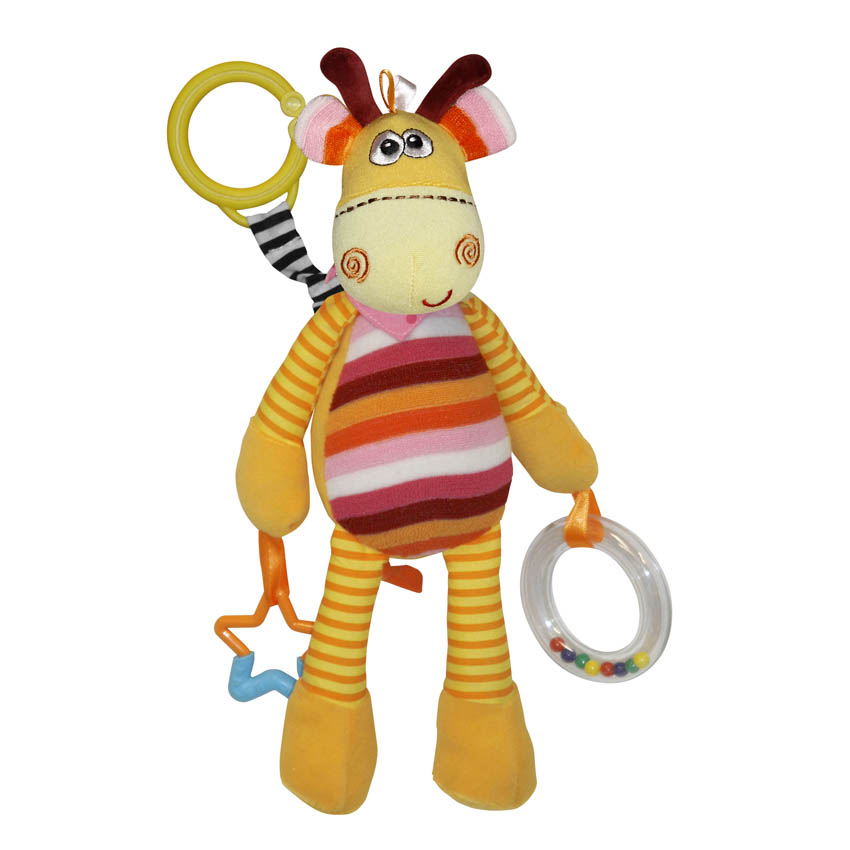 COLORFUL GIRAFFE W. RATTEL & TEETHER