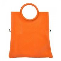 21a8f4bd70 Kožená oranžová moderní dámská kabelka Patrizia Piu