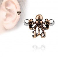 Cartilage piercing do ucha - chobotnice - 1,2 x 6 mm