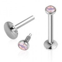 Piercing do brady - labreta opalit 3 mm - růžová | 1,2 x 6 mm