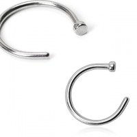 Piercing do nosu kruh - 0,8 x 10 mm