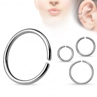 Piercing do nosu/ucha - kruh - 1,0 x 8 mm