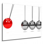 3d Newtons cradle red ball (2/2)