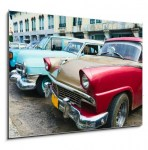 Havana, Cuba. Street scene with old cars. (2/2)