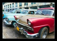 Havana, Cuba. Street scene with old cars.
