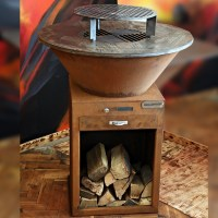 Corten-Steel Middle-Chef Gril Dellinger Smoke&Fire
