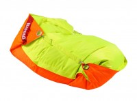Sedací pytel 189x140 duo fluo orange - fluo limet