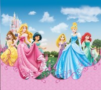 Foto závěs Disney Princess 180 x 160 cm AG Design FCS XL 4384
