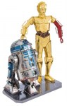 METAL EARTH 3D puzzle Star Wars: R2D2 a C-3PO (deluxe set)