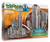 WREBBIT 3D puzzle New York Midtown West 900 dílků